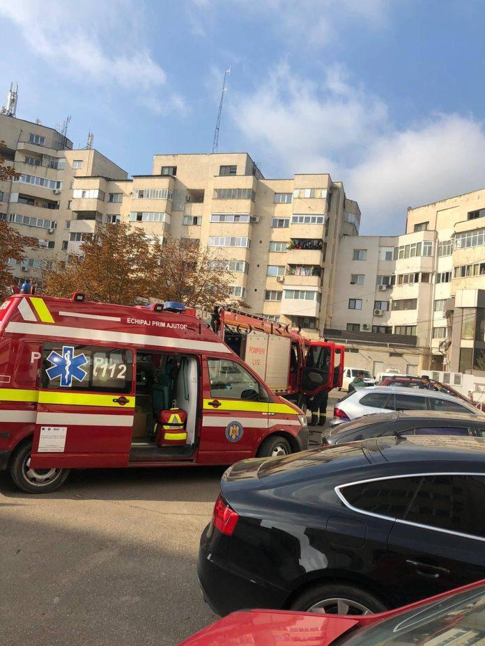 Incendiu la un apartament situat lângă Piața Centrală Barlad