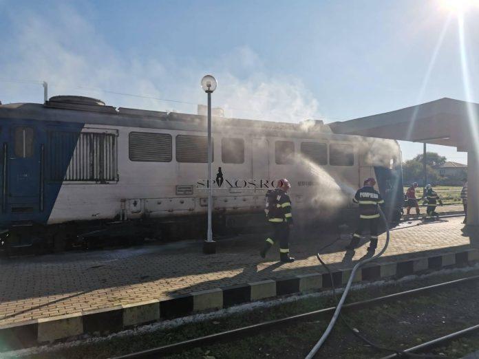 Incendiu la o locomotivă din gara Bârlad