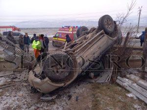 Accident rutier soldat cu 3 victime în comuna Muntenii de Sus