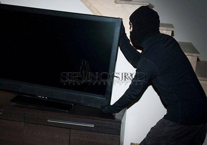 Blestemul televizoarelor a lovit un hoț ghinionist