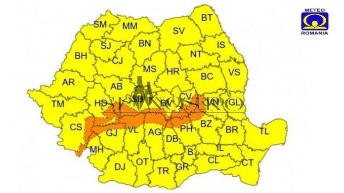 Atenţie,se strică vremea! Codul galben a fost prelungit până pe 15 februarie