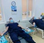 Jandarmii vasluieni au donat,din nou, sânge pentru o tânără
