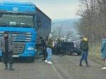 Accident rutier la intrarea în comuna Pogana ( Foto)
