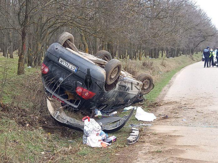 : Accident rutier în comuna Roșiești. Victimele au fost evacuate de participanții la trafic (Foto)