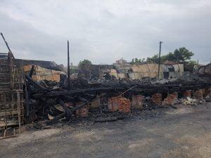 Imaginile vorbesc de la sine după incendiul petrecut aseară