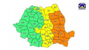 Cod portocaliu de ploi abundente în toată Moldova!
