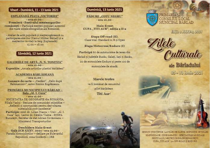 program zilele culturale ale barladului 2021