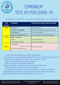 Tarife, test PCR