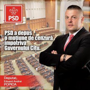 moțiune, Eduard Popică