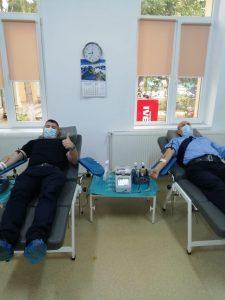 Jandarmi, donare sânge