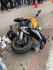 Accident, motociclist