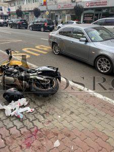 Accident rutier, motociclist